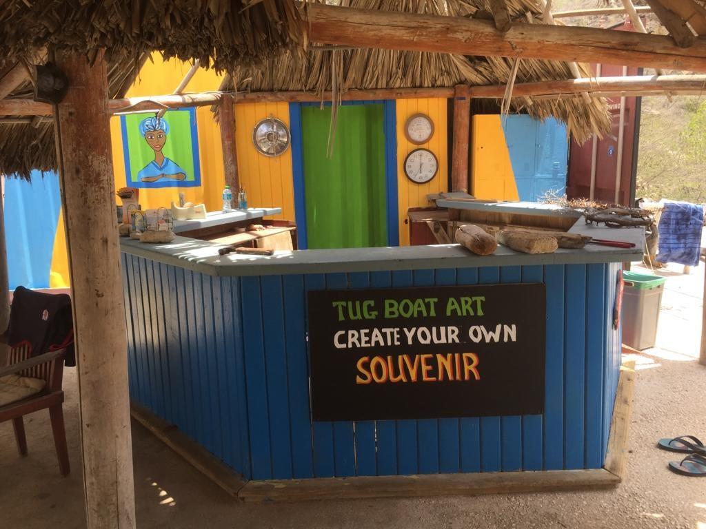 Tugboat Beach kunst maken